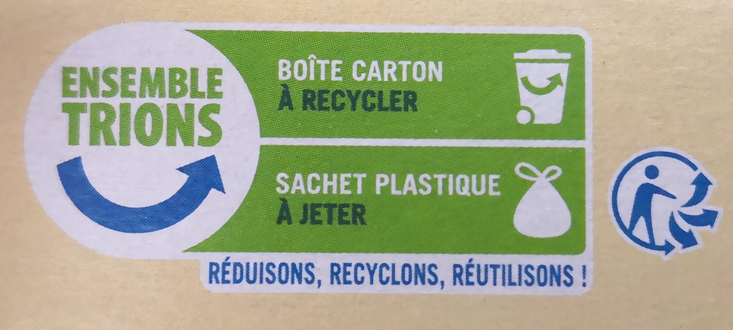 Cordon bleu de dinde - Recycling instructions and/or packaging information - fr