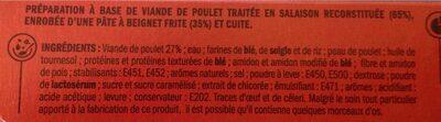 Nuggets de poulet x10 - Ingrediënten - fr