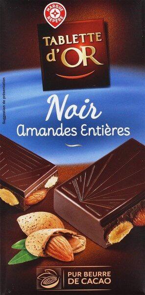 Chocolat noir amandes entieres - Produit - fr