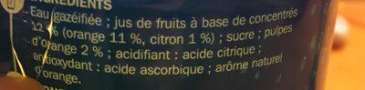 Soda à la pulpe d'orange - Ingredientes - fr