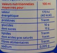 Soda à la pulpe d'orange - Información nutricional - fr