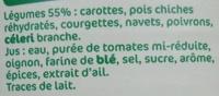 Légumes couscous - Ingredients