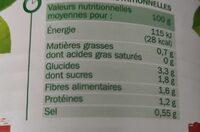 Légumes couscous - Informations nutritionnelles - fr