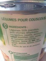 Légumes pour couscous - Ingredients