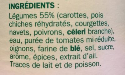 Légumes couscous - Ingrédients