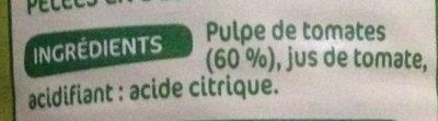 Pulpe de tomates - Ingredients
