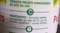 Pulpe de tomates en dés - Ingredients
