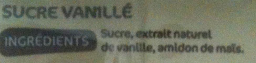 Sucre vanille - Ingredients - fr