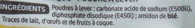 Levure chimique - Ingrédients - fr