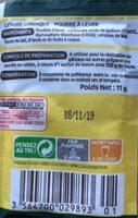 Levure chimique - Informations nutritionnelles - fr