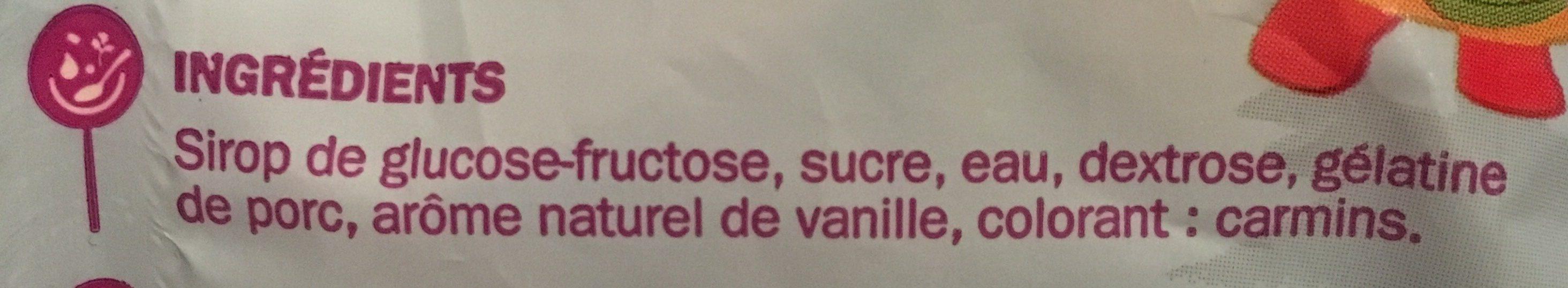 Marshmallows goût vanille - Ingrédients