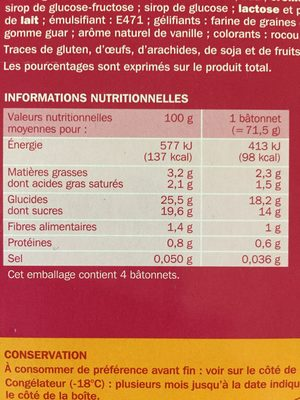 Trofi'fruit fruits rouges x 4 - Ingrediënten - fr