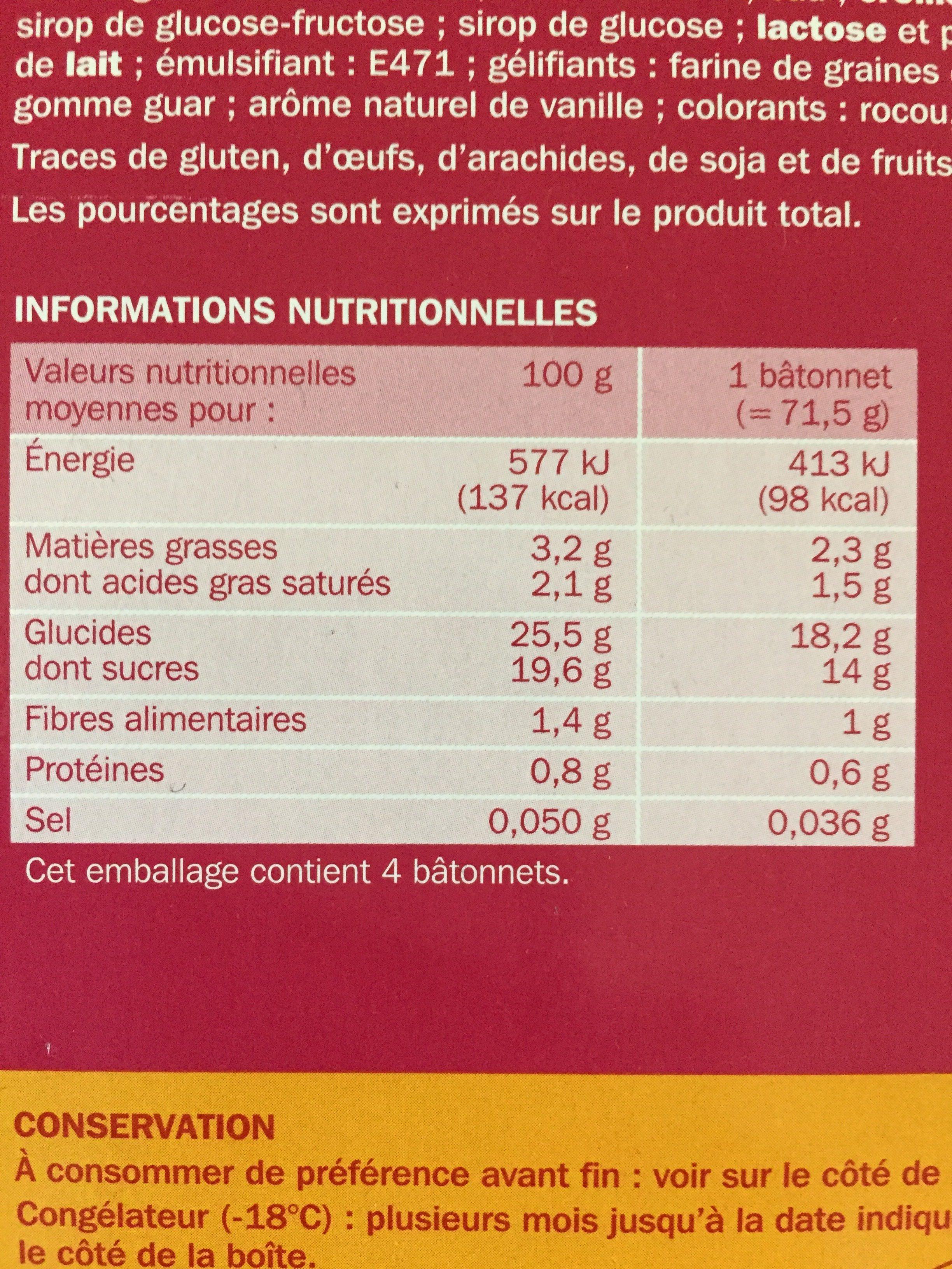 Trofi'fruit fruits rouges x 4 - Ingredients