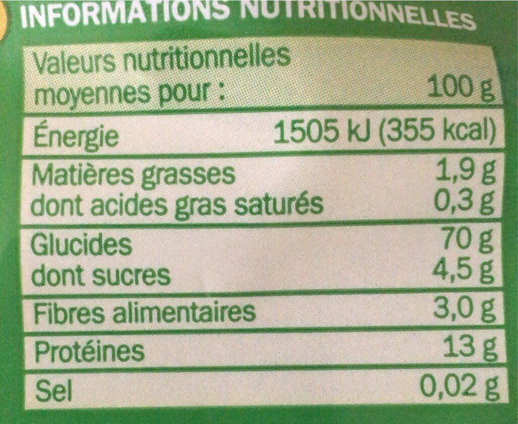 Penne Rigate - Informations nutritionnelles - fr