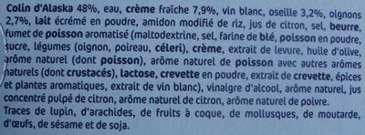 Poisson à l'oseille - Ingrédients - fr