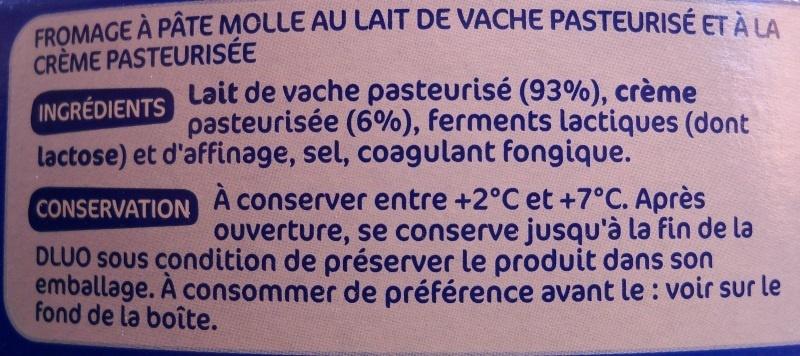 Coeur de crème 31% mg - Ingrédients - fr