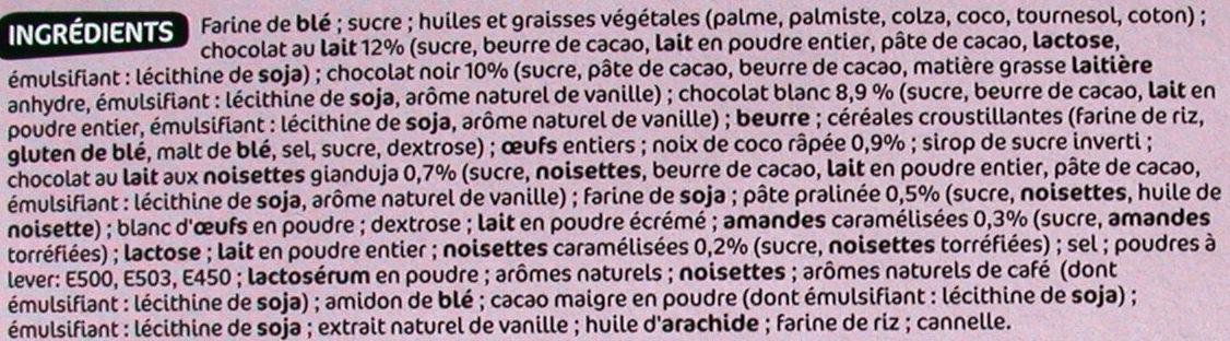 Assortiment de biscuits fins - Ingrediënten