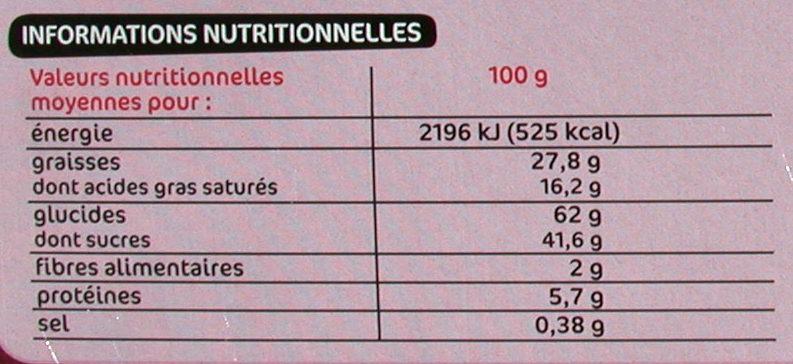 Assortiment de biscuits fins - Informations nutritionnelles - fr
