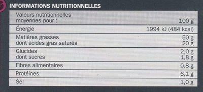 Duo de bloc de foie gras de canard - Voedingswaarden - fr