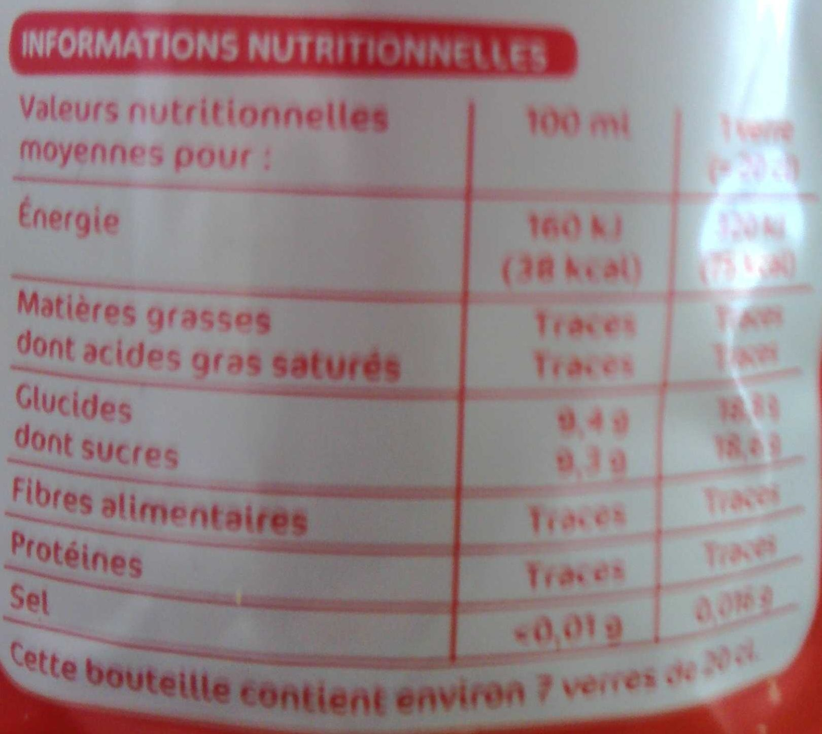 Soda pulpe orange sanguine - Nutrition facts - fr