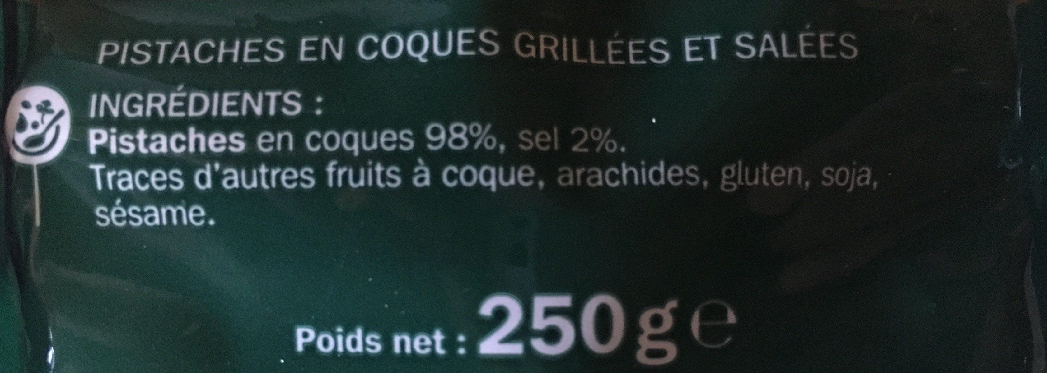 Pistaches salées - Ingredients - fr
