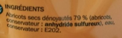 Abricot moelleux - Ingrédients - fr