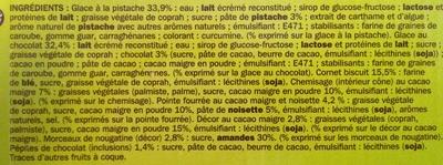 Cônes pistache chocolat x 6 - Ingredients