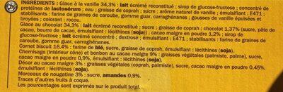 Cônes vanille/chocolat x 6 - Ingredients