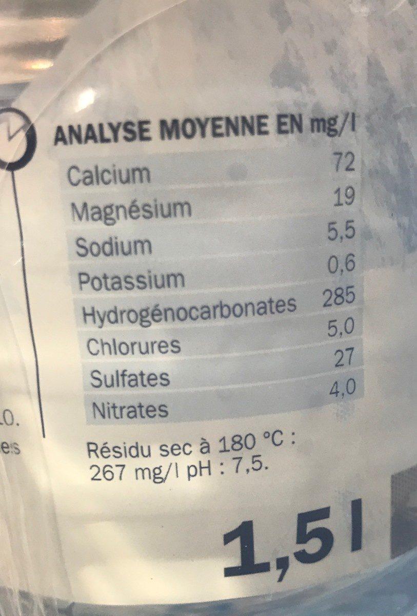 Eau minérale naturelle des Alpes - Ingrédients - fr