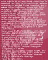 Cônes citron/framboise sauce fruits rouges x 6 - Ingrédients - fr