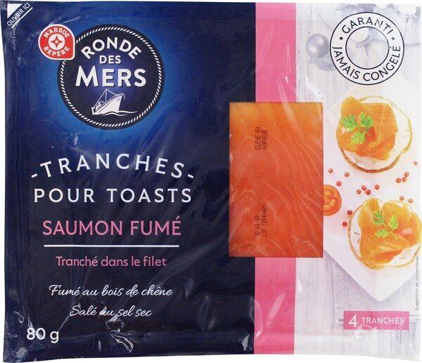 Tranches pour toasts de saumon fumé - Product