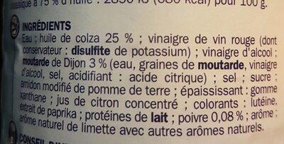Vinaigrette Nature - Ingrediënten