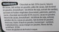 Biscuits meringués fourrés chocolat - Ingredients