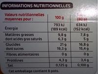 Crèmes à la liégeoise au chocolat - Nutrition facts - fr