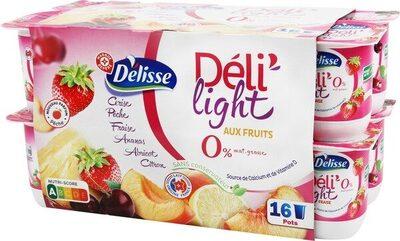 Deli'light aux fruits 0% - Product