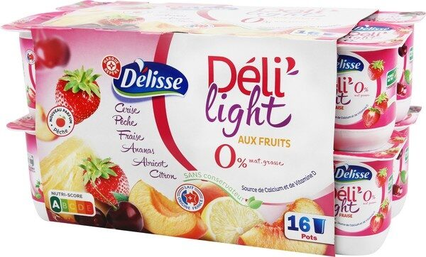 Yaourts Fruits 0% Déli'light - Producto - fr