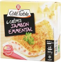 Crêpes 1/2 lune jambon fromage x 6 - Product