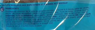 Goûters moelleux- delimousse- x 6 biscuits - Ingrediënten - fr