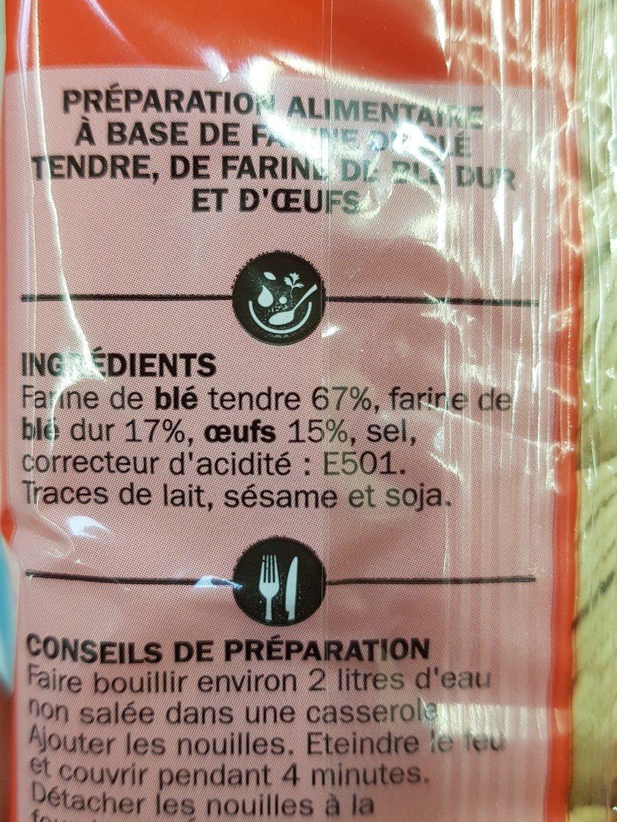 Pâtes chinoises aux oeufs - Ingrédients - fr