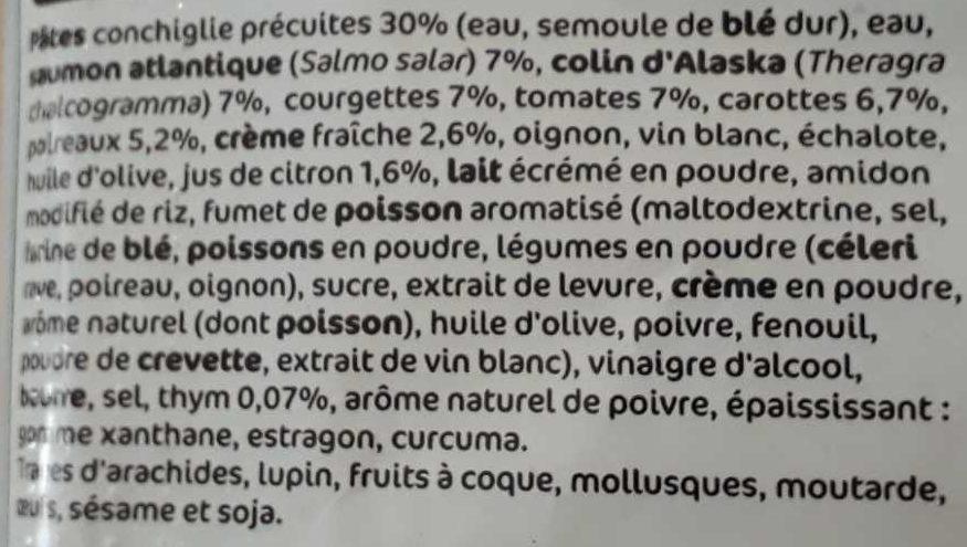 Pâtes saumon et colin à l'estragon - Ingrediënten - fr