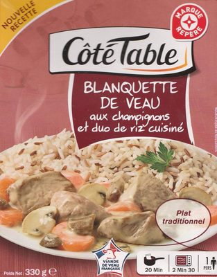Blanquette de Veau aux champignons et duo de Riz Cuisiné - Produit - fr