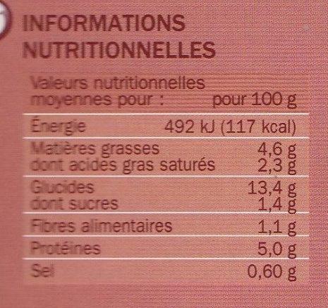 Blanquette de Veau aux champignons et duo de Riz Cuisiné - Informations nutritionnelles - fr