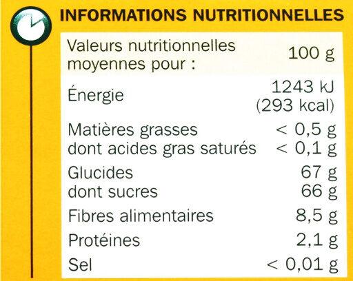 Dattes Deglet Nour - Informations nutritionnelles - fr