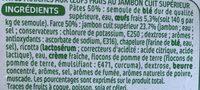 Raviolis au jambon - Ingredients