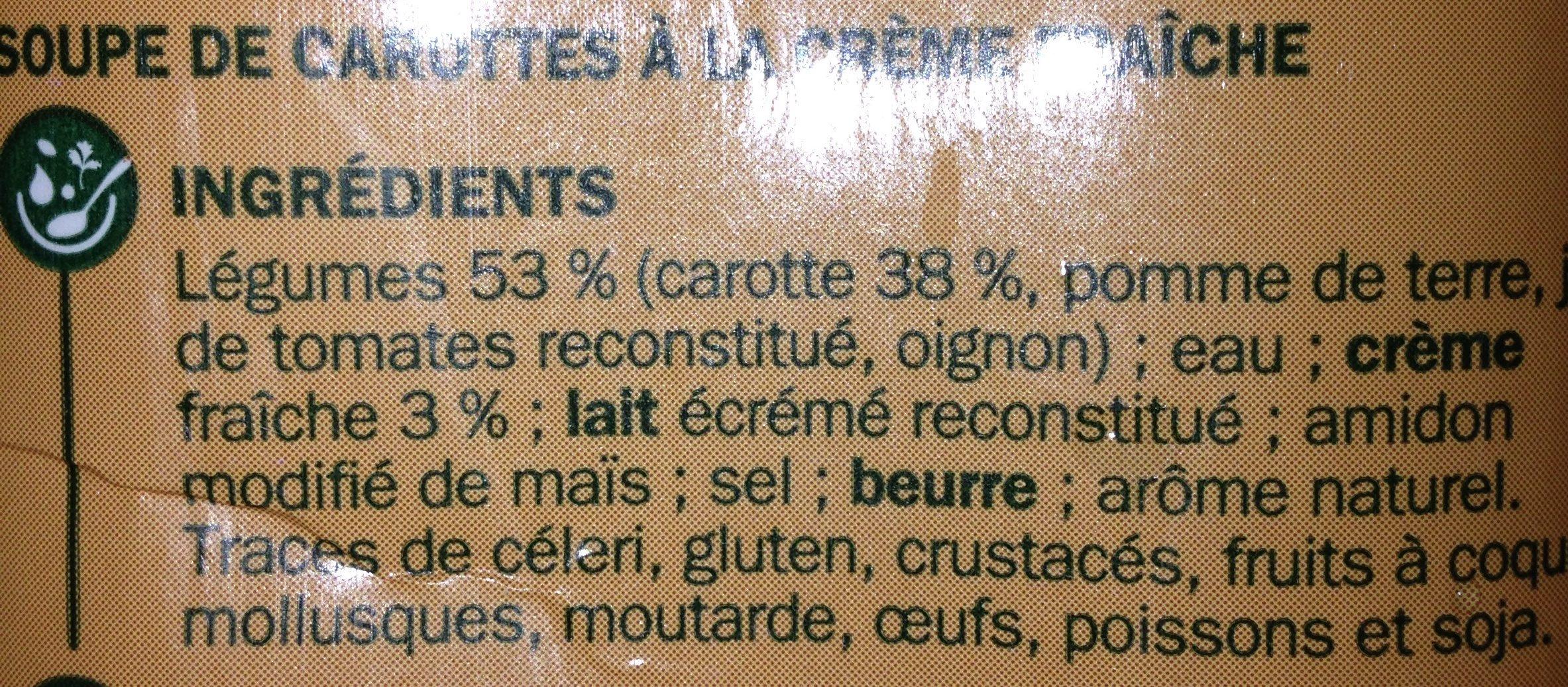 Velouté de carottes - Ingredients - fr