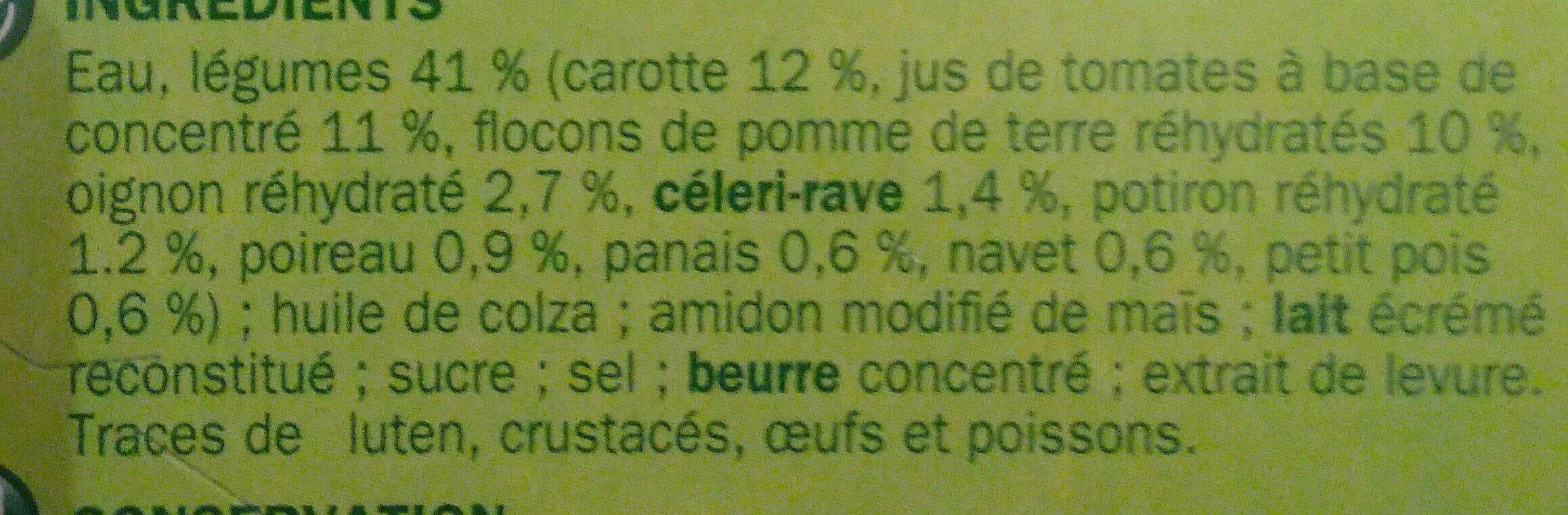 Velouté de légumes - Ingrédients - fr