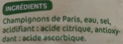 Champignons de Paris émincés - Ingrédients - fr