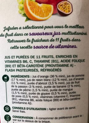 Pur jus multivitamines - Ingredienti - fr