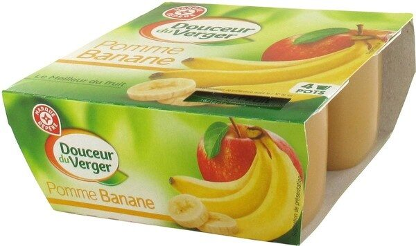 Dessert de fruits pomme banane x4 - Product