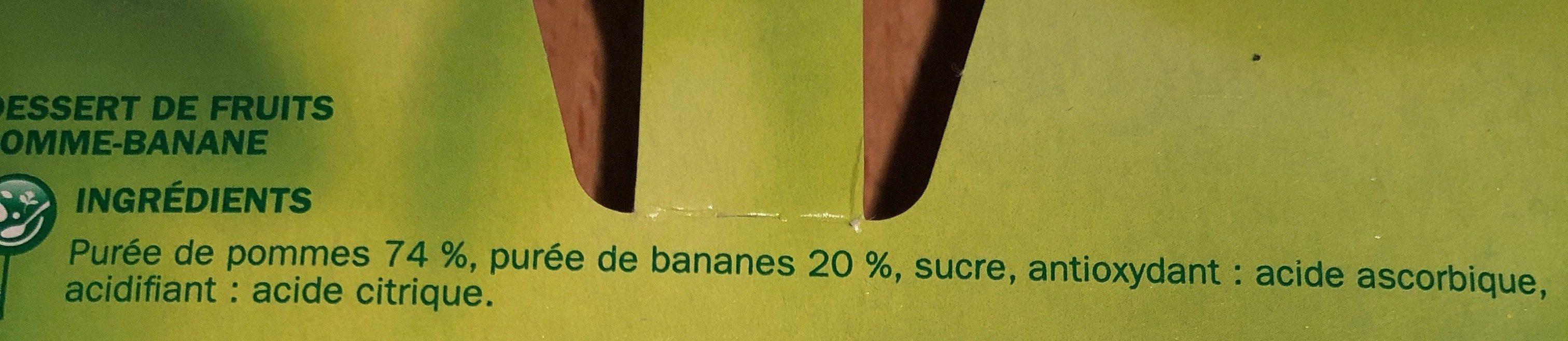 Dessert de fruits pomme banane x4 - Ingredients
